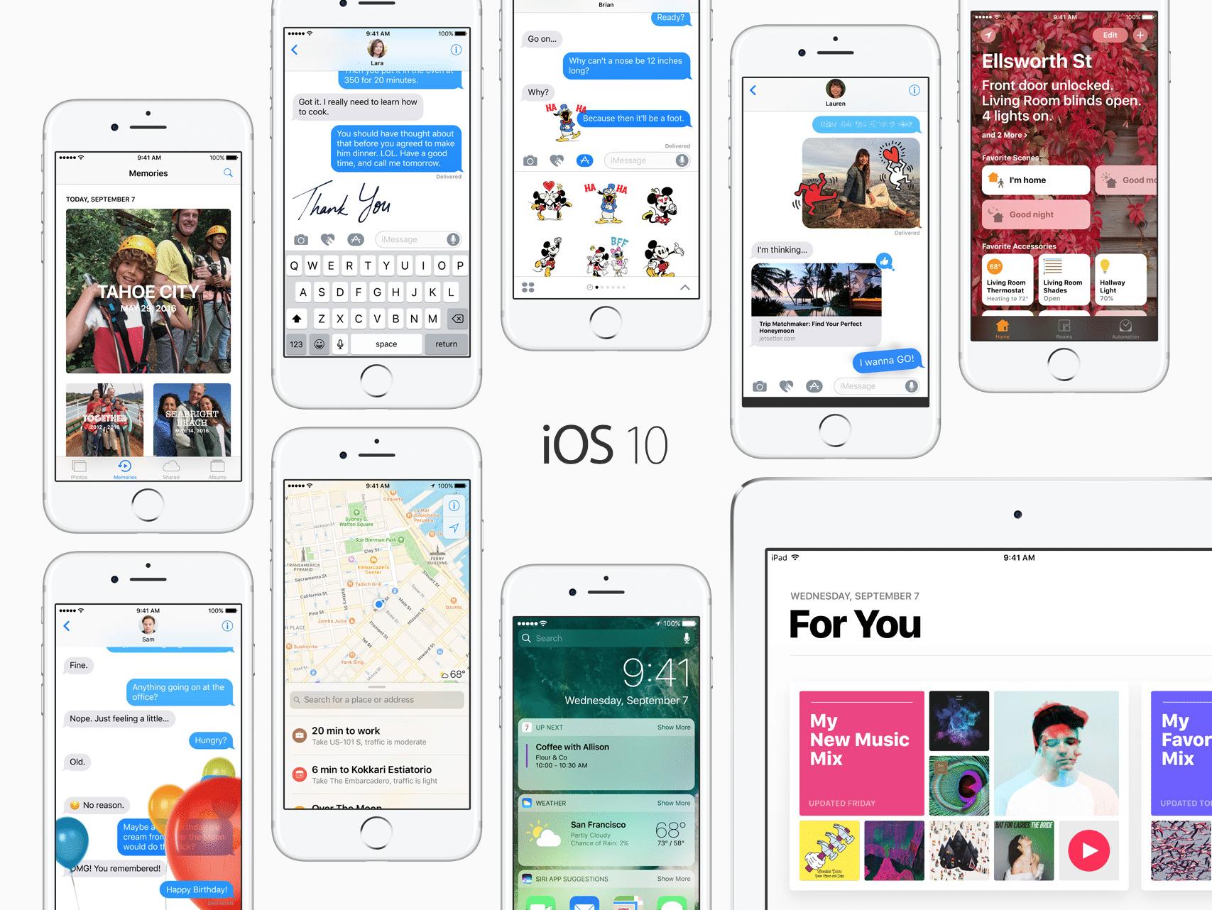 Så er iOS 10 klar til download…