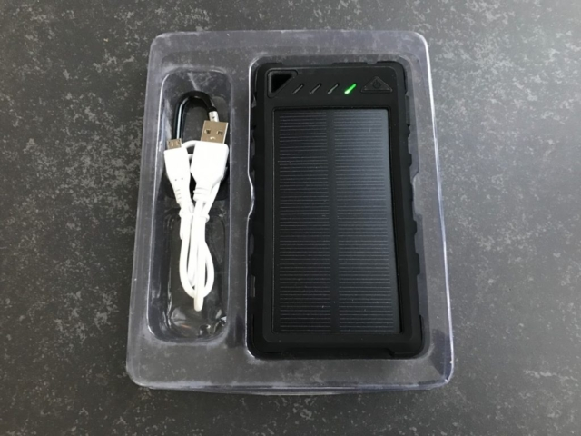 Solcelle powerbank