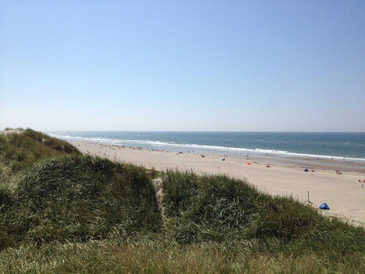 Stranden ved Bjerregaard sommerhus vesterhavet