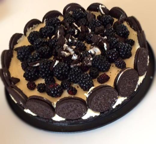 Cheesecake med Oreo eller Oreos lækker opskrift god dessert kikse cheesecake hjemmelavet uden med husblas