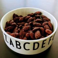 Opskrift på soyamandler hjemmelavede soya mandler homemade soy glazed almonds snack soyamandler