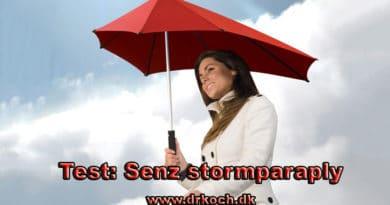 Test af Senz stormparaply storm paraply blæsevejr test af anmeldelse.