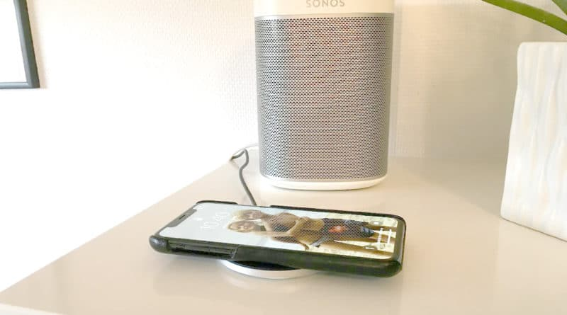 trådløs aircharge aircharger oplader opladning trådløst qi iPhone samsung til bilen i hjemmet lampe sengebord smartphone bedste