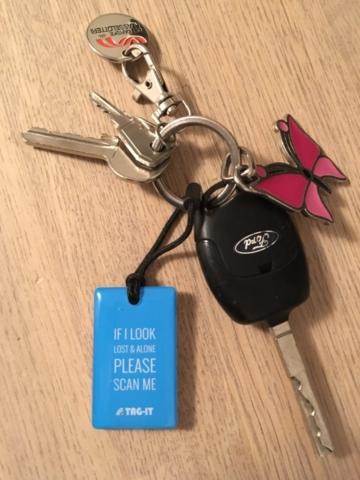 tag-it test af anmeldelse find glemte nøgler mærker til stjålne cykler cykel hugget hvor er mine nøgle min