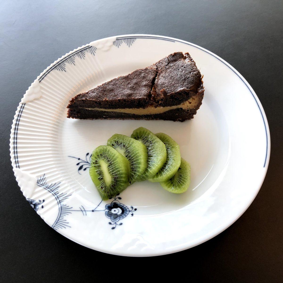 brownie med karamelmidte karamel-midte karamel opskrift på god opskrift dessert desert