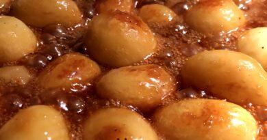 Brunkartofler brune kartofler brunede kartofler opskrift hvordan laver man sukker