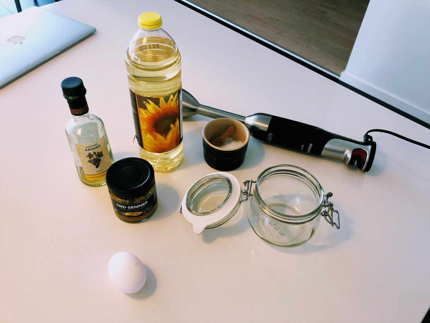 hjemmelavet mayonaise med stavblender blender mayonnaise majonæse sådan laver du hvordan laver man mayonæse opskrift på