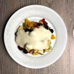 opskrift frugtsalat ingredienser abemad hvordan laver man hvad skal der i en råcreme bedste frugter til blåbær jordbær appelsin kiwi ananas pære æbler chokolade