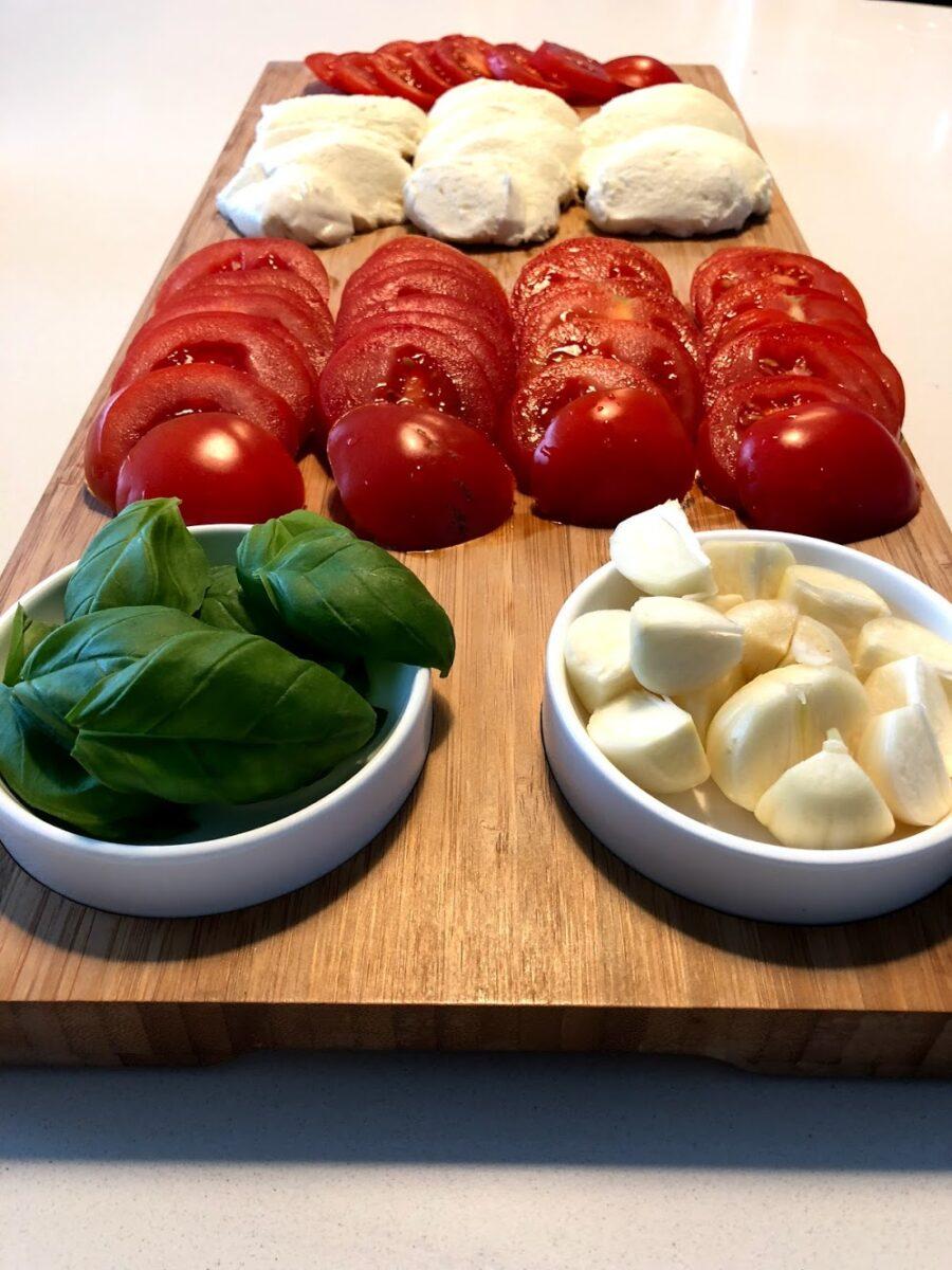 bruschetta opskrift italiensk brød ristet hvidløg mozzarella balsamico olivenolie hjemmelavet brushetta brusjetta
