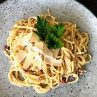 opskrift på pasta spaghetti carbonara spagetti cabonara opskrift på hjemmelavet