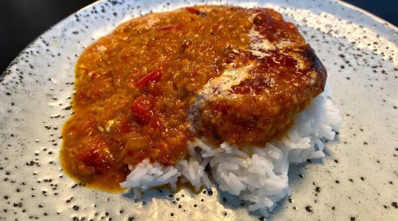 ibs karrykoteletter ib's i fad opskrift med ris kotelet flødesauce karry