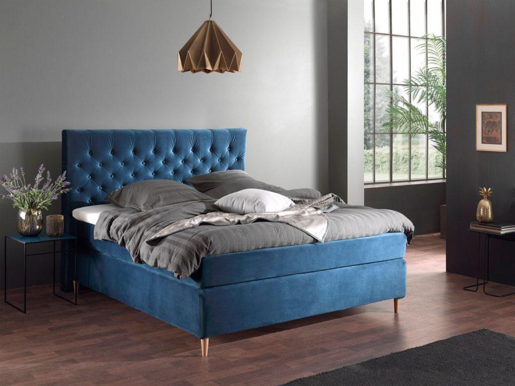 Sirius Velour med Chesterfield gavl. valg af seng, hård eller blød test af madrasser tempur eller almindelig madras kontinental senge