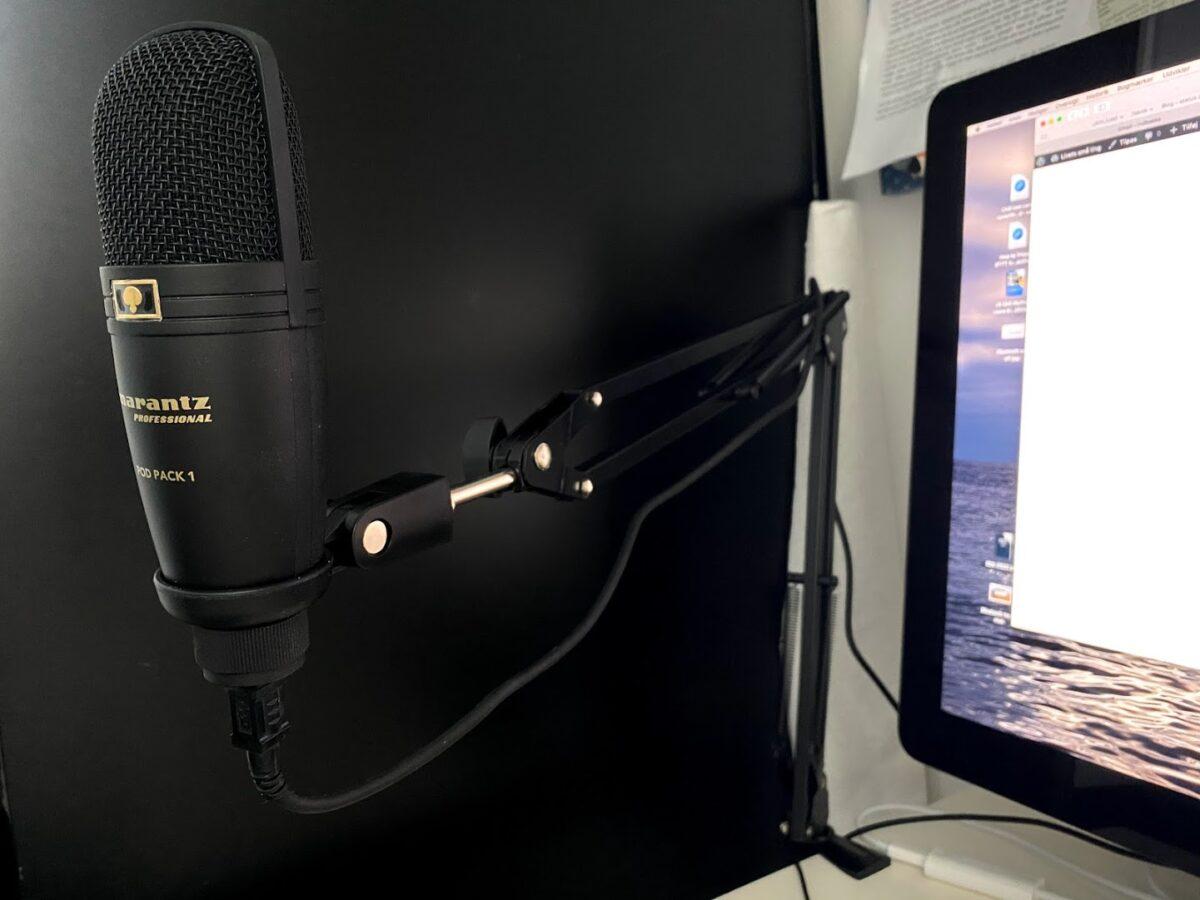 test af god podcast mikrofon Marantz PodPack 1 Professionel podcasts USB microphone god og billig uden støj anmeldelse