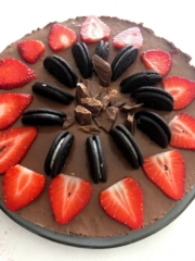 chokolade cheesecake opskrift med daim