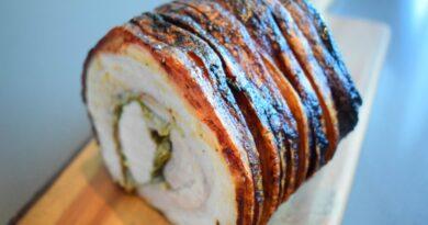 porchetta italiensk flæskesteg opskrift god opskrift grill på i ovnen ovn roseterie rosseteri rossetterie
