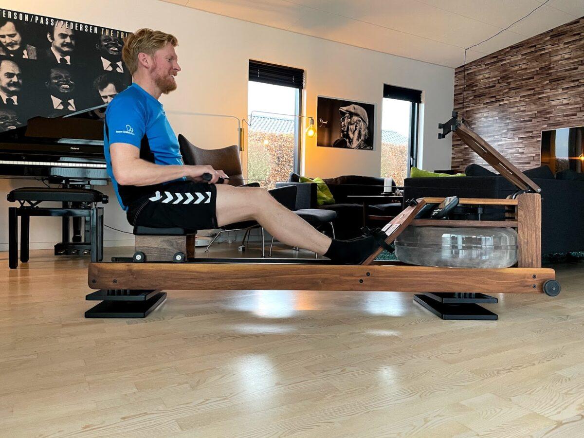 test af flowrow board til waterrower eller concept 2 romaskine coretræning core review does it work erfaring reformer træning på romaskinen
