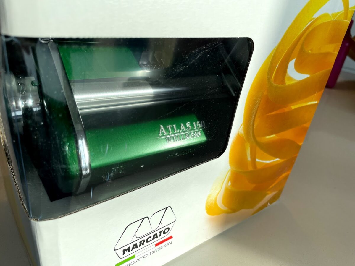 Test af pastamaskine bedste god pasta maskine Marcato Atlas 150 kvalitet erfaring med motor tilbehør til