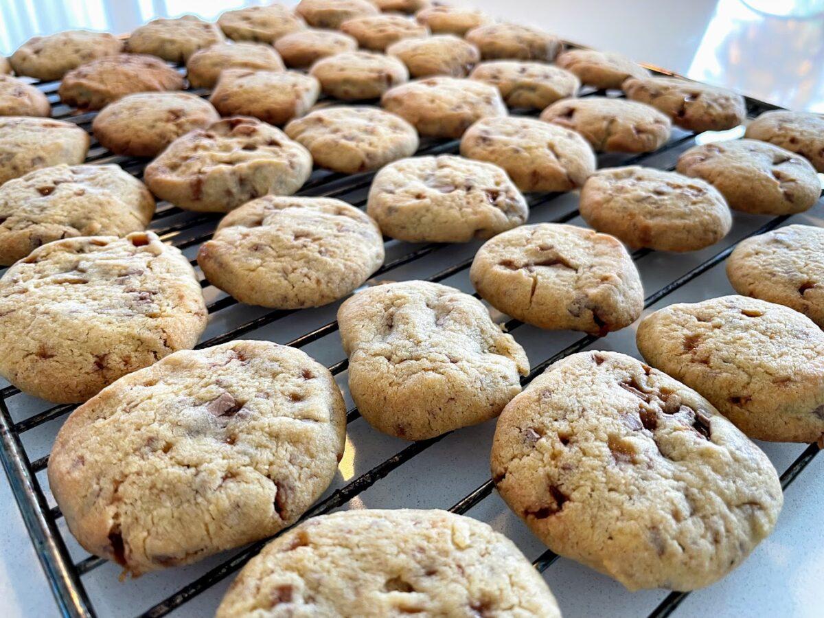 opskrift daim cookies med dajm hjemmelavet småkager indeholder