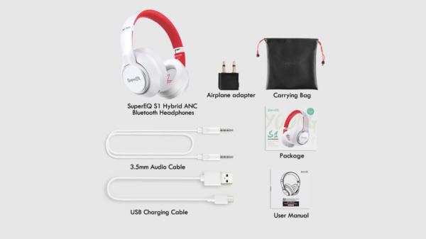 supereq1 høretelefoner hovedtelefoner test af styre kontrol knapper
